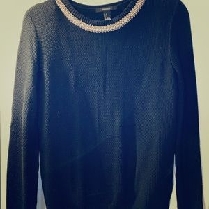Black Jewel enCrested collared sweater